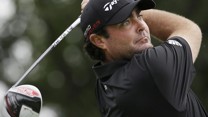 Steven Bowditch watches his tee shot on the second hole during the third round of the Byron Nelson golf tournament, Saturday, May 30, 2015, in Irving, Texas. (AP Photo/LM Otero)