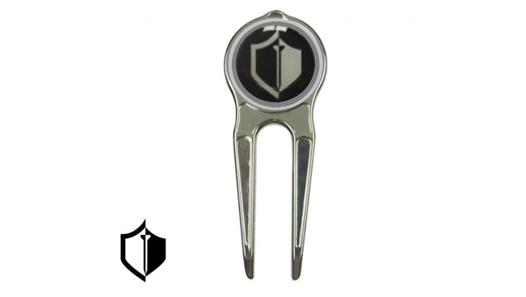LuxGolf Divot tool w/ Magnetic logo'd Ball Marker