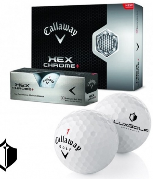LuxGolf Logo'd Callaway HEX Chrome Golf Balls