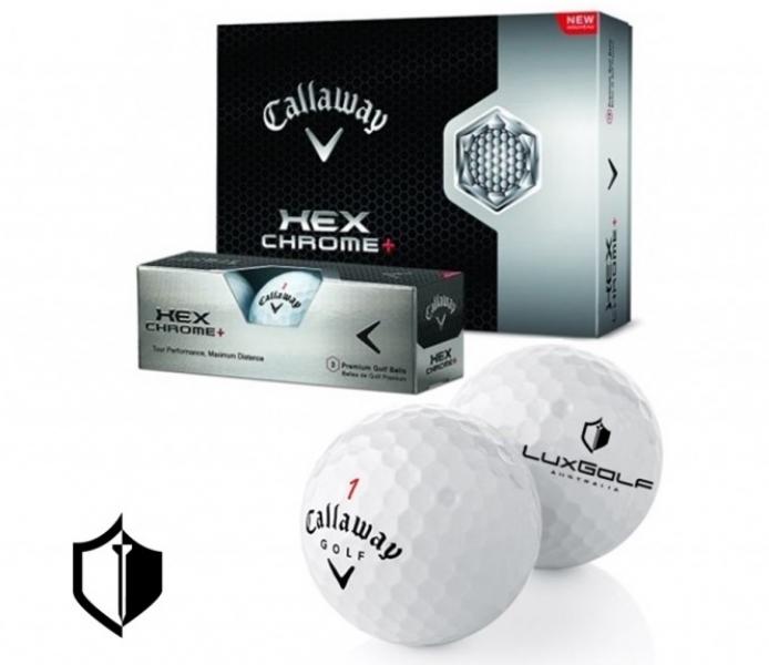 LuxGolf Logo'd Callaway HEX Chrome Golf Balls