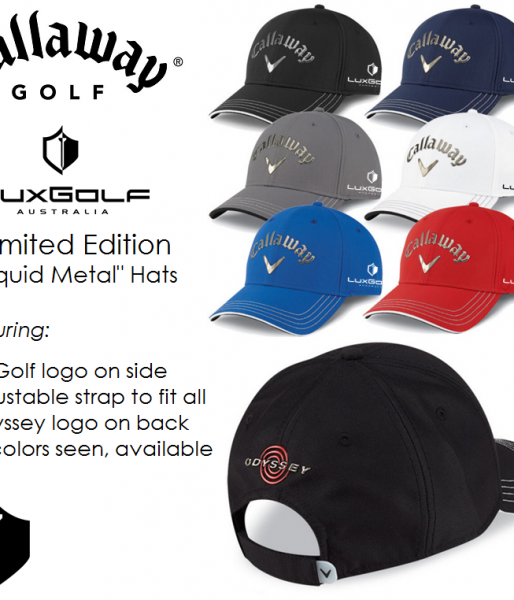 Limited Edition LuxGolf Callaway 'Liquid Metal' Hats