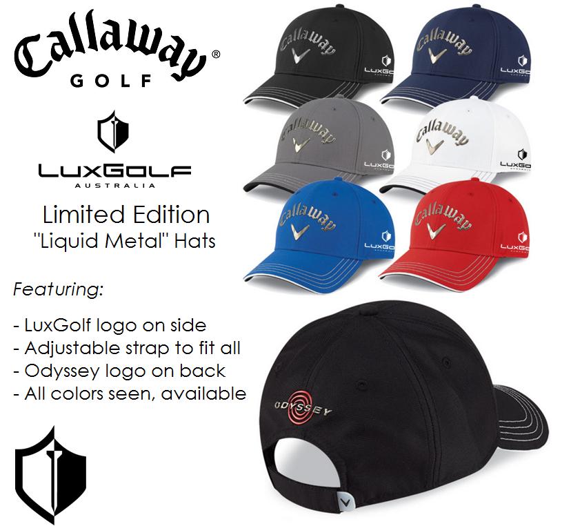 Limited Edition LuxGolf Callaway 'Liquid Metal' Hats