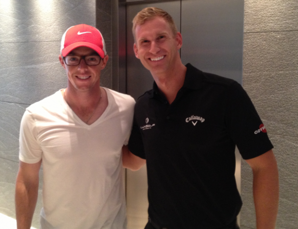 Travis talks to World No.1 and 2013 Australian Open Champion, Rory McIlroy.